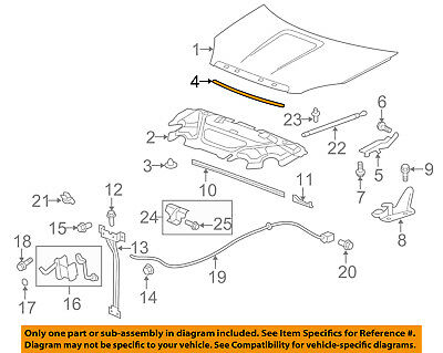 GM OEM Hood-Rear Weatherstrip Seal 15706253