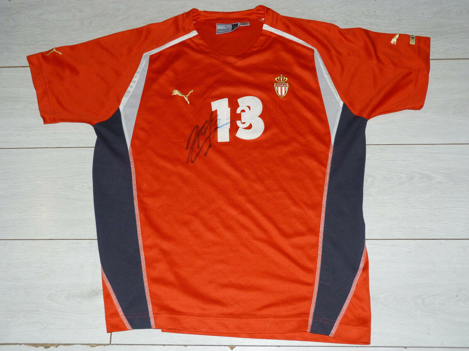 Maillot porté signé signed worn jersey DOUGLAS MAICON asm AS MONACO FC foot
