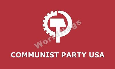 100% Quality Us Cpusa Flag Communist Party 5x3ft 3x2ft 6x4ft 8x5ft 10x6ft High Quality Crazy Price Yard, Garden & Outdoor Living