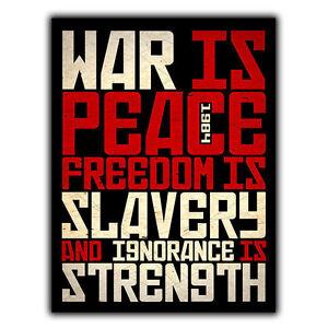 Freedom is slavery essay 1984