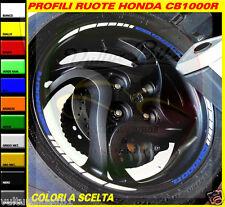 adesivi ruote moto honda cb1000R strisce cerchi decals stickers weels bianco/blu