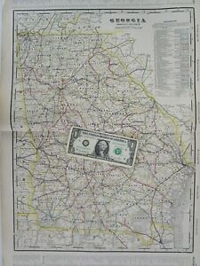 Railroad Map Of Georgia.Details About Ga 1910 Georgia Electric Interurban Steam Railroad Map Steamship Full Index