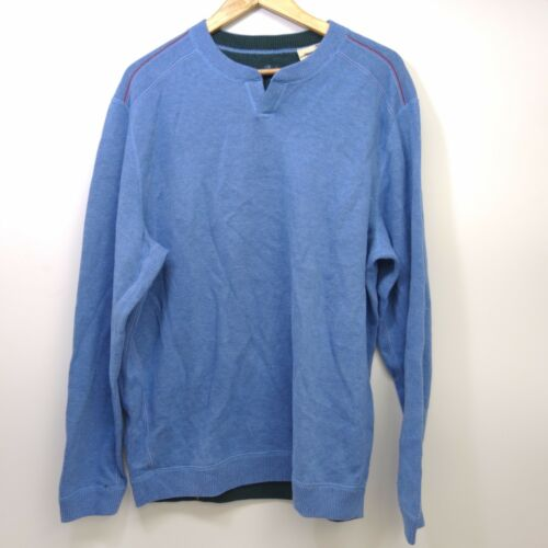 Tommy L Bleu Neuf Bahama Foncé Sweatshirt Vert Classique Coupe Hommes Réversible Tdd6nqZ1vw