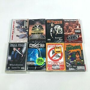 Lot-8-Cassette-Tapes-90s-Rap-Hip-Hop-Mack-10-Sporty-Thievz-Poppa-Doo-SEALED