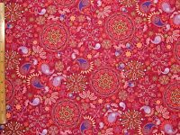 Katmandu Fanciful Cotton Fabric By The Yard Bty
