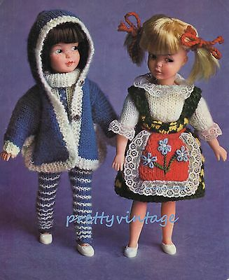 VINTAGE KNITTING PATTERN TO MAKE SINDY SISTER PATCH DOLLS CLOTHES