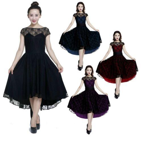 Up Dance 72804 36 Pin Black Spitze Dress 58 Lace Cstd Tanz Schwarz Damen Kleid wwqf0r