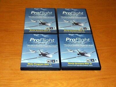 PRO FLIGHT PROFLIGHT PLANE SIMULATOR SUITE  - Windows 7 MAC 4 Discs - Complete!