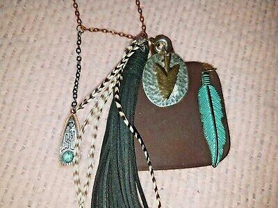 Vintage Cow Tag Necklace