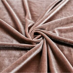 STRETCH-Mauve-VELVET-COSTUME-CRAFT-DRESS-FABRIC-58-034-WIDE-SOLD-BY-THE-YARD