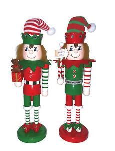 Santa's Workshop 2 Piece Elves At Work Nutcracker Set