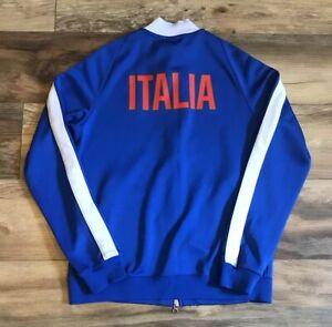 061daa0e577 Nike Futbol Italia Italy National Team Zip Up Soccer Track Jacket ...