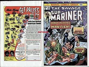 1974-GIL-KANE-SUBMARINER-70-ORIGINAL-COVER-PROOF-PRODUCTION-ART-NAMOR-UNCHAINED
