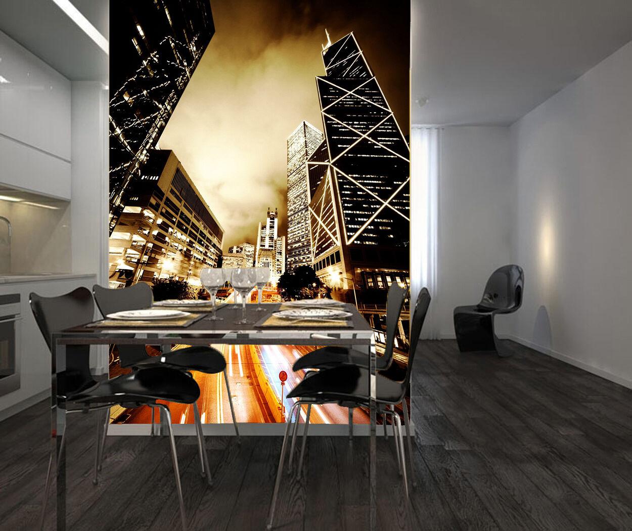 3D Haut-lieu Bâtime Photo Papier Peint en Autocollant Murale Plafond Chambre Art