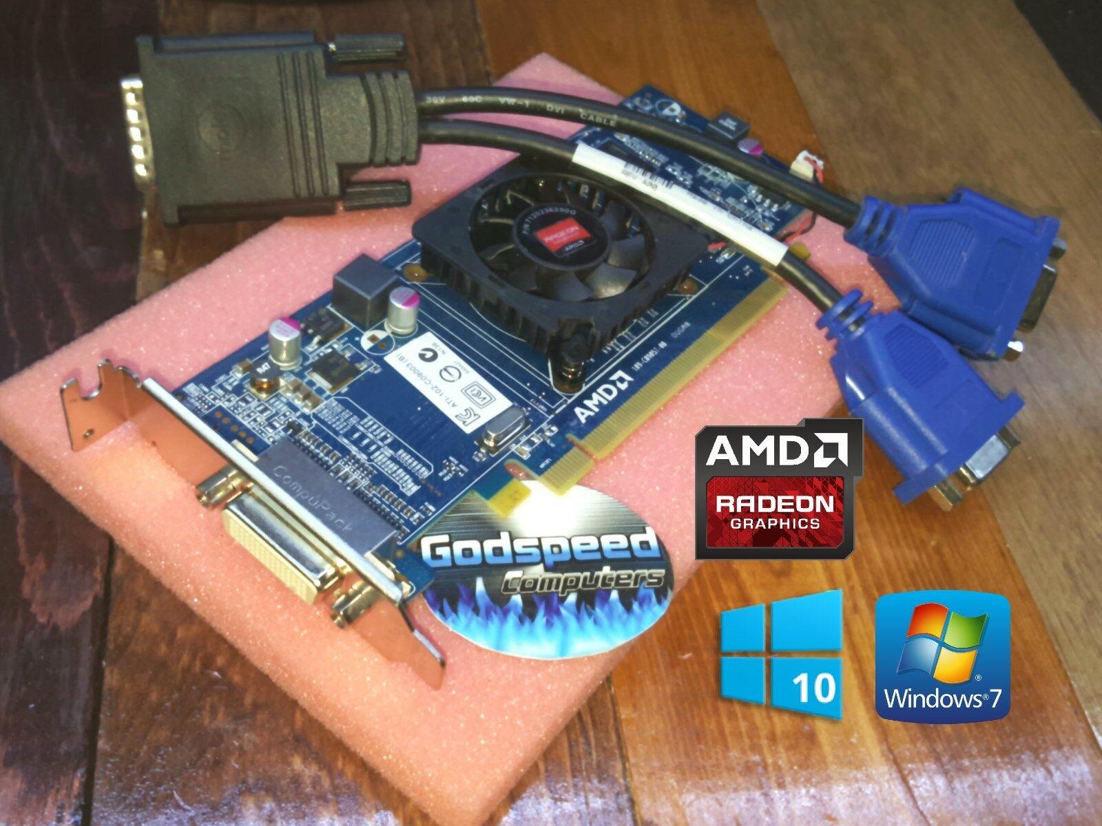 Windows 10 Dell Optiplex 3010 7010 9010 SFF Low-Profile Dual VGA Video Card