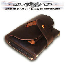 Handmade Leather Belt Pouch - with 3 pockets