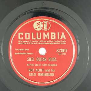 ROY-ACUFF-Steel-Guitar-Blues-Steel-Guitar-Chimes-10IN-1956-COUNTRY-BOOGIE-NM