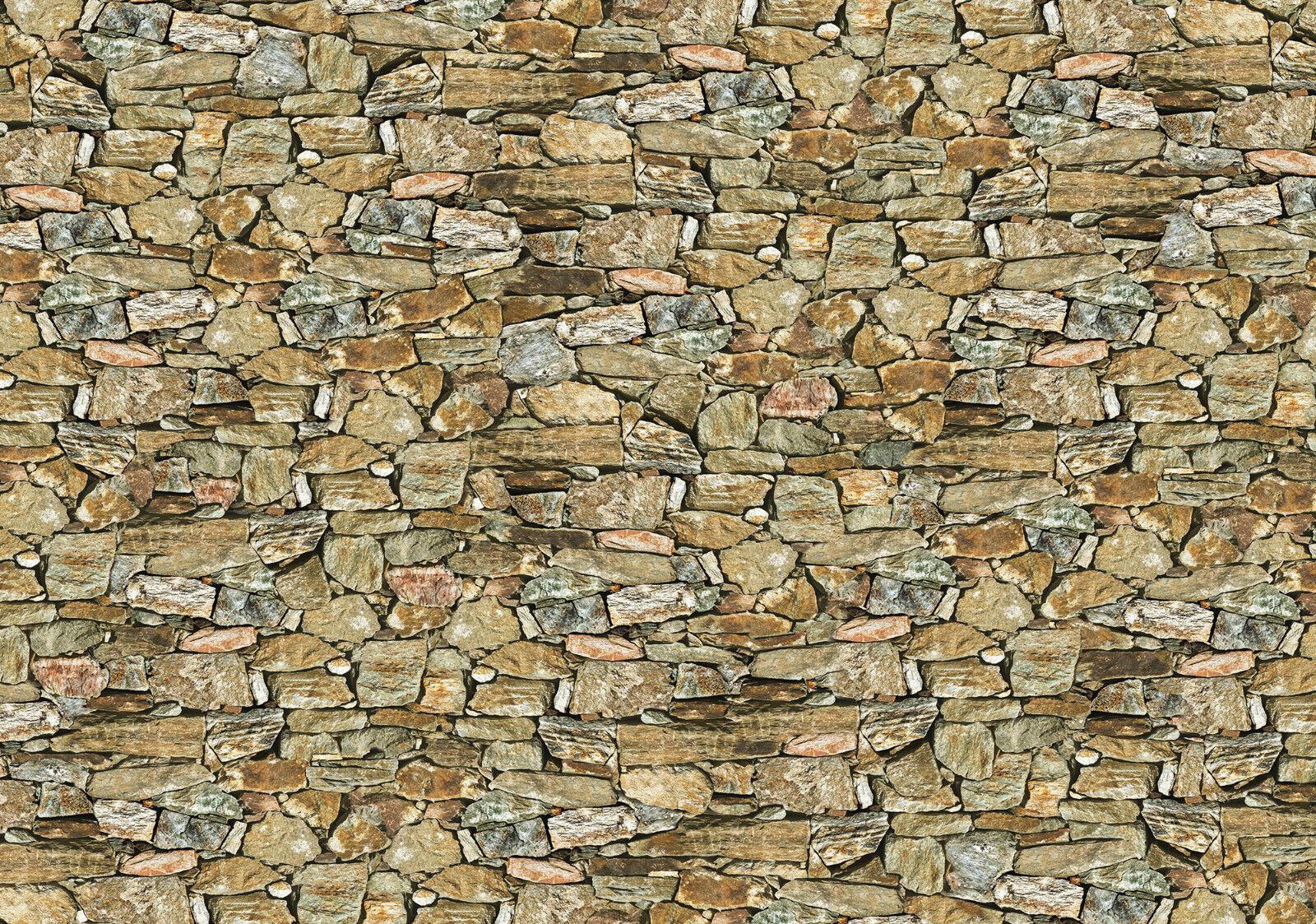 VLIES Fototapete-STEIN-WAND-(036)-Mauer Textur Optik Illusion Sandstein Ziegel
