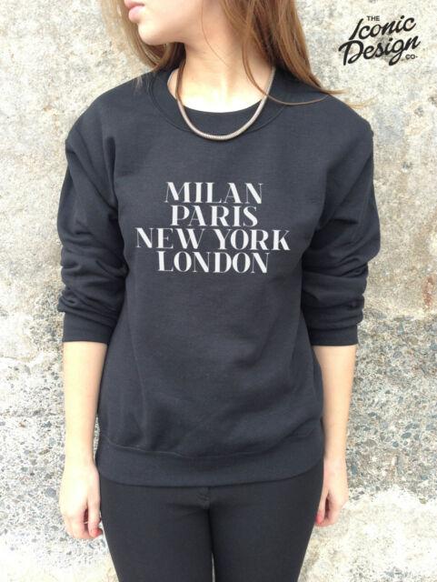 Milan Paris New York London Jumper Sweater Top Vogue Fashion Tumblr Sweatshirt