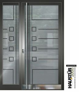 aluminium haust r glas t r alu haust ren nach ma mod ht 5483 sf gla nach ma ebay. Black Bedroom Furniture Sets. Home Design Ideas