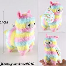 Kawaii Rainbow Arpakasso Alpacasso Cute Alpaca Llama Plush bag/key chain
