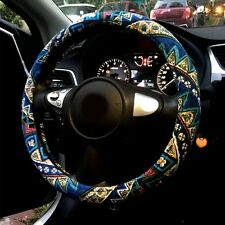 """The New Automotive Ethnic Flax Cloth Wrap Anti Slip Car Steering Wheel Cover 15"""""""