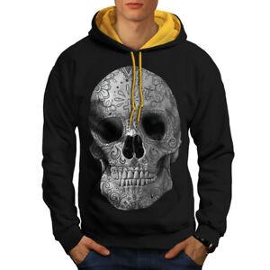 Con Contraste Capucha Skull Negro Dorada Face Capucha Hombres Nuevo E4qUUtnHw
