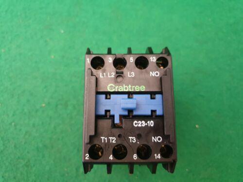 C23-10 Crabtree Ceicon Contactor  415 Volt Coil 30 Amp 11Kw