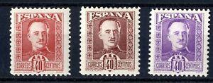 Muy-Raros-sellos-no-emitidos-Espana-Franco-40-centimos-colores-diferentes