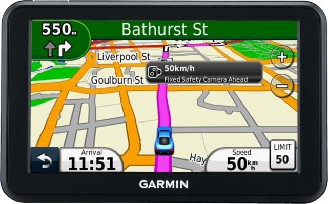 "SatNav Garmin nüvi 50 Automotive GPS Receiver 5""widescreen #BG4"