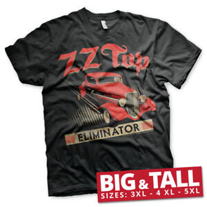 d90165a6ae4 Official Licensed ZZ-Top - Eliminator Rock Band Big   Tall T-Shirt ...