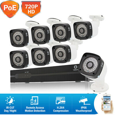 """WiFi CCTV 4CH 10"""" TFT LCD NVR HD IP Camera Wireless Security System Night Vision"""
