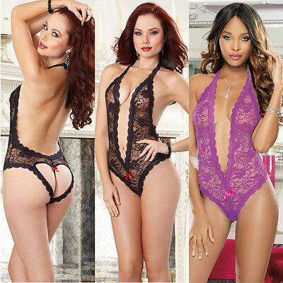 Women Sexy-Lingerie Nightwear Sleepwear Lady Babydoll Lace Underwear G-string