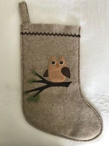 Eco Wool Felt Baby Owl Christmas Stocking Ebay