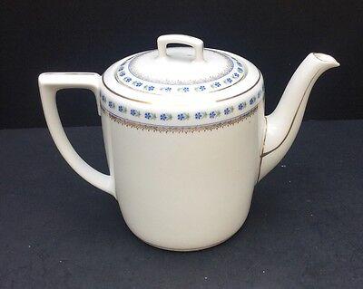 VIntage MZ Austria Teapot Pitcher Coffee Blue & Gold Trim | eBay
