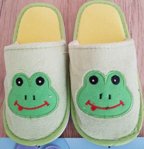 Slippers Kinder Hausschuhe  23 24 für Jungen mit Froschmotiv