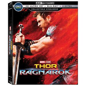 Details about Thor Ragnarok 4K UHD Steelbook [Region A Blu-ray + Digital  Download] NEW