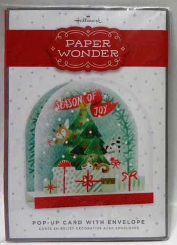"472631 Hallmark Paper Wonder Pop-Up Christmas Card /""Season of Joy/"" w//Envelope"