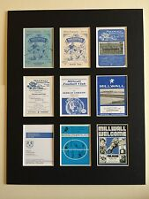 "MILLWALL FC RETRO POSTERS 14"" BY 11"" PICTURE MOUNTED READY TO FRAME"