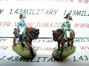 SOLDAT-de-plomb-DEL-PRADO-1-50-AUSTERLITZ-Napoleon-lot-n-21-2-cavaliers