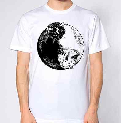 Cat Ying Yang T-Shirt New Kitten Kitty Top Art