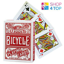 6 DECKS BICYCLE CHAINLESS 3 BLUE AND 3 RED POKER PLAYING CARDS SEALED BOX CASE