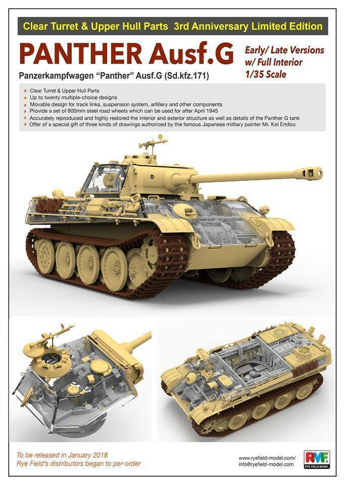 Rye Field Model 5016 Panther Ausf.G w w w Full Interior (Clear Edition) 1 35 7cf142
