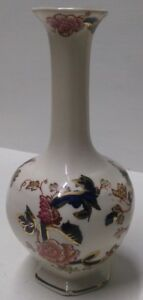 Mason-039-s-Mandalay-Hand-Painted-Posy-Vase-Excellent-Condition-6-034-tall-A3