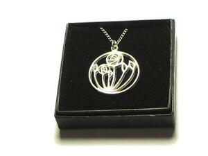 Mackintosh Rose Pewter Pendant GWNMj8