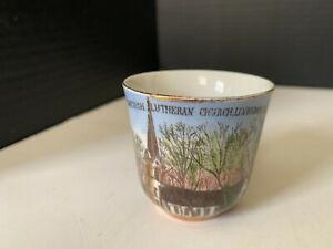 Antique Swedish Lutheran Church Lindsborg Kansas Souvenir Cup