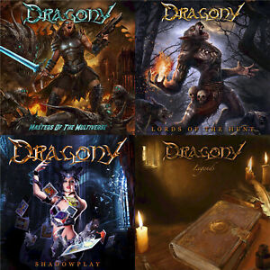 DRAGONY-4CD-Bundle-Special-Christmas-Offer-Symphonic-Power-Metal-free-sticker