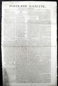 1805 PORTLAND GAZETTE NEWSPAPER WAR W/ BARBARY PIRATES