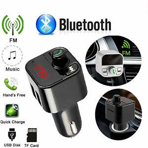 Bluetooth inalámbrico Transmisor FM Radio coche mp3 Cargador usb Manos libres