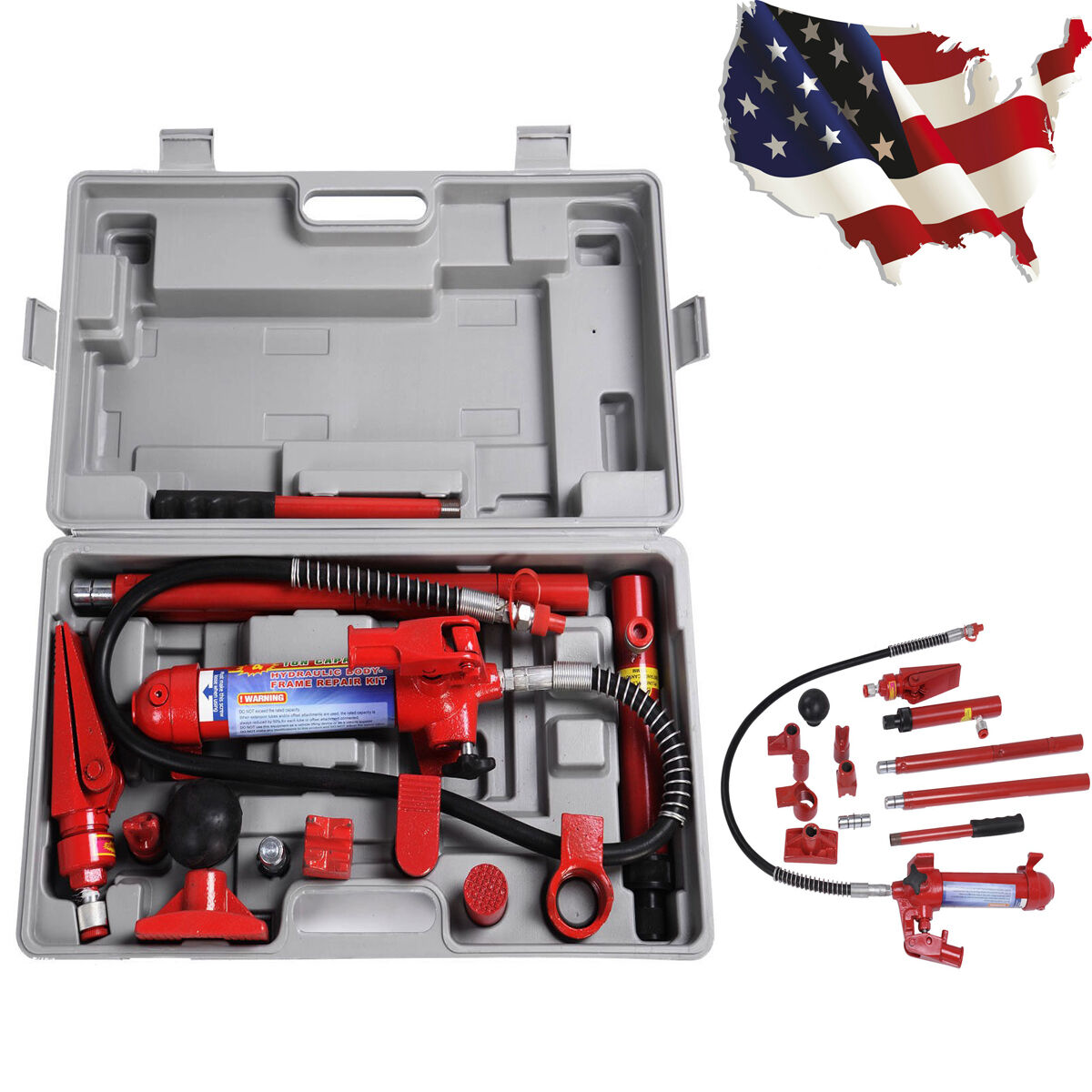 Heavy Duty 4 Ton PORTA Power Hydraulic Jack Body Frame Repair Kit ...